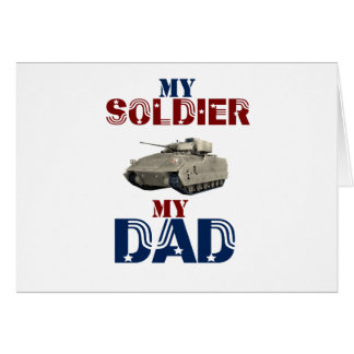 My Soldier My Dad Tank Card