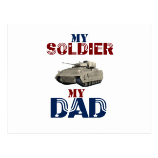 My Soldier My Dad Tank Postcard