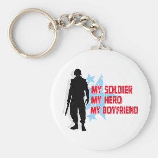 My Soldier, My Hero, My Boyfriend Keychain