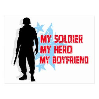 My Soldier, My Hero, My Boyfriend Postcard