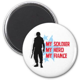 My Soldier, My Hero, My Fiance 2 Inch Round Magnet