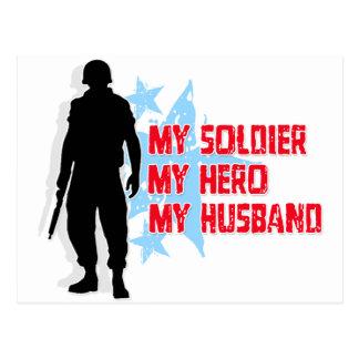 My Soldier, My Hero, My Husband Postcard