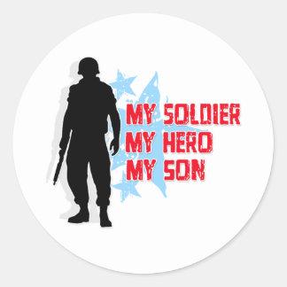 My Soldier, My Hero, My Son Classic Round Sticker
