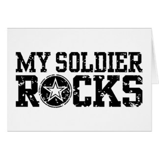 My Soldier Rocks Greeting Card