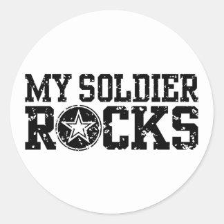 My Soldier Rocks Classic Round Sticker