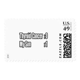 My Son Beat Thyroid Cancer (Scoreboard) Postage Stamps
