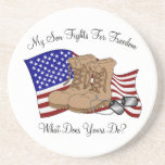 My Son Fights For Freedom Coasters
