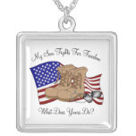 My Son Fights For Freedom Personalized Necklace