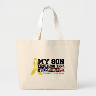 My Son Fights For Your Freedom Large Tote Bag