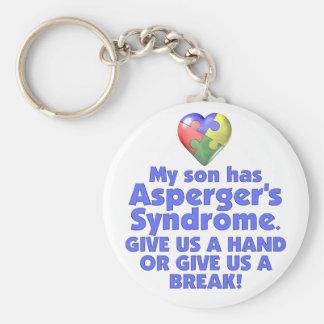 My Son Has Asperger's Basic Round Button Keychain