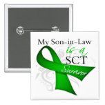 My Son-in-Law is a Stem Cell Transplant Survivor 2 Inch Square Button