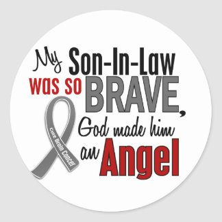 My Son-In-Law Is An Angel 1 Brain Cancer Classic Round Sticker