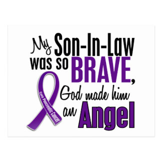 My Son-In-Law Is An Angel Pancreatic Cancer Postcard
