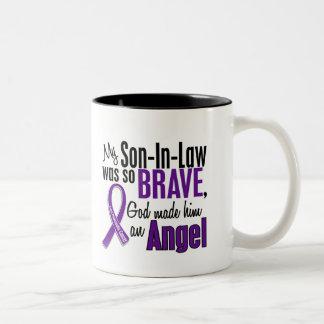 My Son-In-Law Is An Angel Pancreatic Cancer Two-Tone Coffee Mug