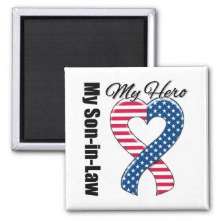 My Son-in-Law My Hero Patriotic USA Ribbon Fridge Magnet