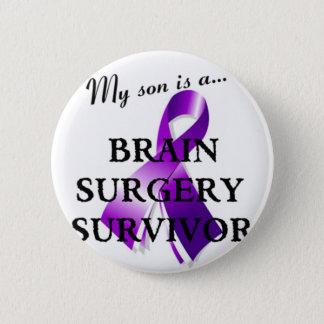 My Son Is A Brain Surgery Survivor Pinback Button