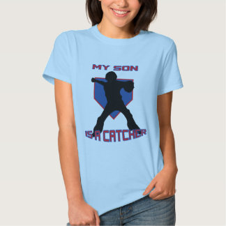 My Son is a Catcher BABYDOLL T-SHIRT