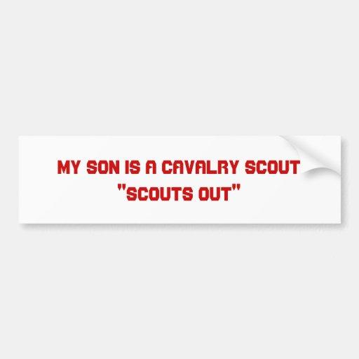 My Son is a Cavalry Scout Bumper Sticker