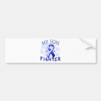 My Son Is A Fighter Blue Bumper Sticker