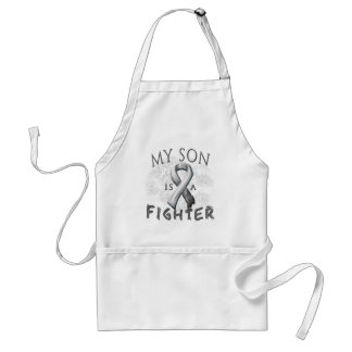 My Son Is A Fighter Grey Adult Apron