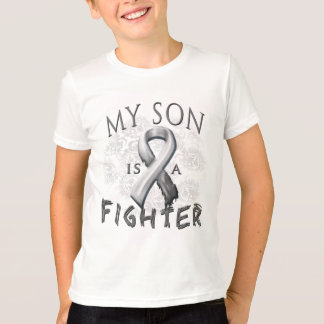 My Son Is A Fighter Grey T-Shirt