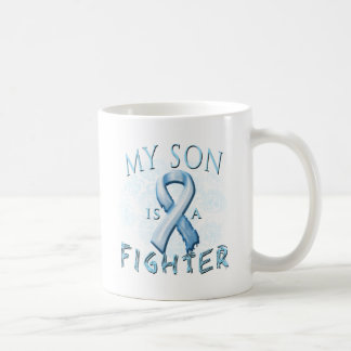 My Son is a Fighter Light Blue Coffee Mug