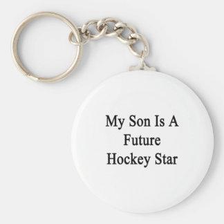 My Son Is A Future Hockey Star Keychain