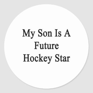 My Son Is A Future Hockey Star Stickers
