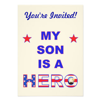 My Son Is A Hero Invites