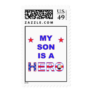 My Son Is A Hero Postage Stamp
