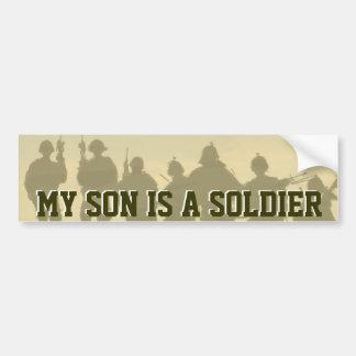 MY SON IS A SOLDIER ARMY BUMPER STICKER CAR BUMPER STICKER