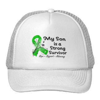 My Son is a Strong Survivor Green Ribbon Trucker Hat