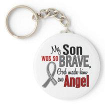 My Son Is An Angel 1 Brain Cancer Keychain