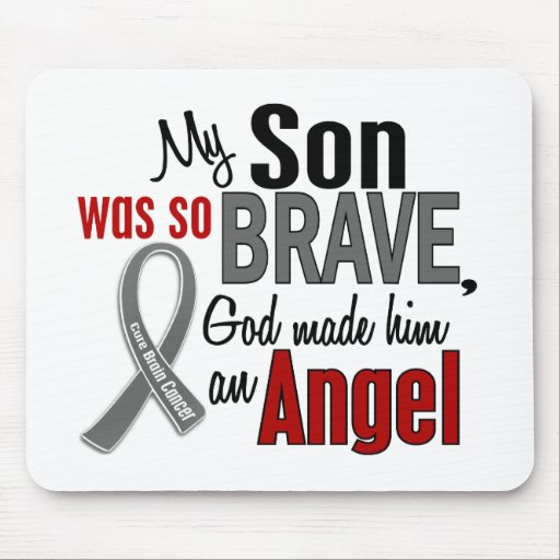 My Son Is An Angel 1 Brain Cancer Mouse Pads
