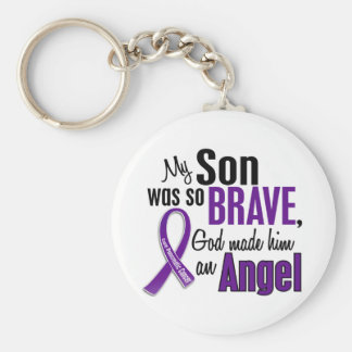 My Son Is An Angel Pancreatic Cancer Keychain