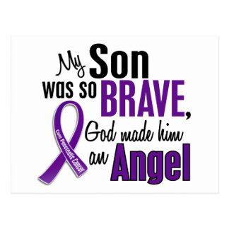 My Son Is An Angel Pancreatic Cancer Postcard