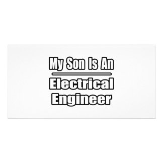 My Son Is An Electrical Engineer Photo Card Template