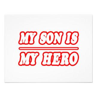 My Son Is My Hero Custom Announcement