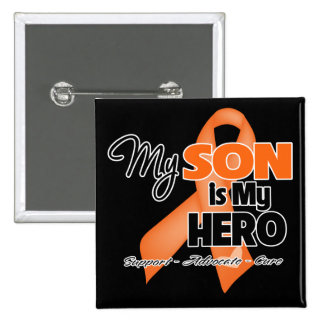 My Son is My Hero - Leukemia 2 Inch Square Button