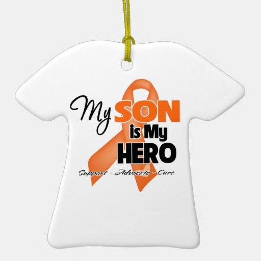 My Son is My Hero - Leukemia Christmas Ornament