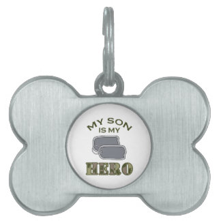 MY SON IS MY HERO PET NAME TAGS