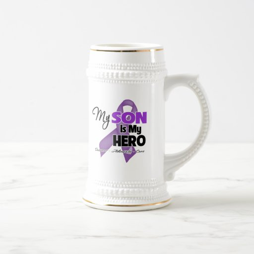 My Son is My Hero - Purple Ribbon 18 Oz Beer Stein