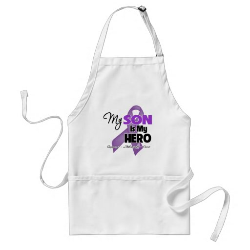 My Son is My Hero - Purple Ribbon Adult Apron