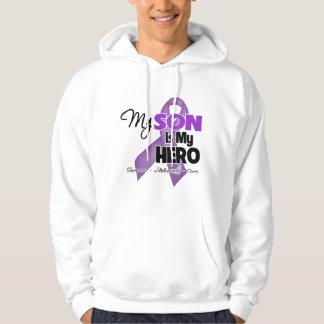 My Son is My Hero - Purple Ribbon Hoodie