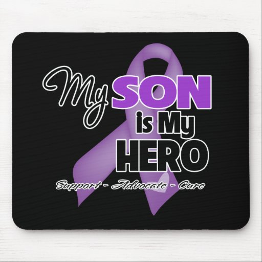 My Son is My Hero - Purple Ribbon Mouse Pad