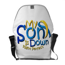 My Son Is Perfect Down Syndrome Awareness Courier Bag
