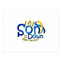 My Son Is Perfect Down Syndrome Awareness Postcard