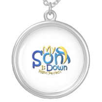 My Son Is Perfect Down Syndrome Awareness Silver Plated Necklace