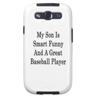 My Son Is Smart Funny And A Great Baseball Player Samsung Galaxy S3 Cover