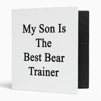 My Son Is The Best Bear Trainer Vinyl Binder